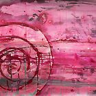 Magenta Spiral with Horizon Lines by Gary Hoare