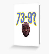 Lebron James Funny Face Greeting Card