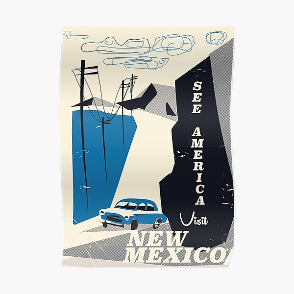 See America - New Mexico Vintage travel poster Poster