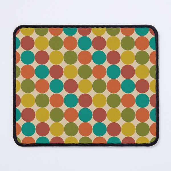 Dotty Diagonal Stripe Pattern in Mid Mod Colors Mouse Pad
