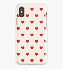 Mini Red Hearts Pattern iPhone Case/Skin