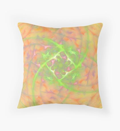 At the beginning of the rotation #fractal art 2 Throw Pillow