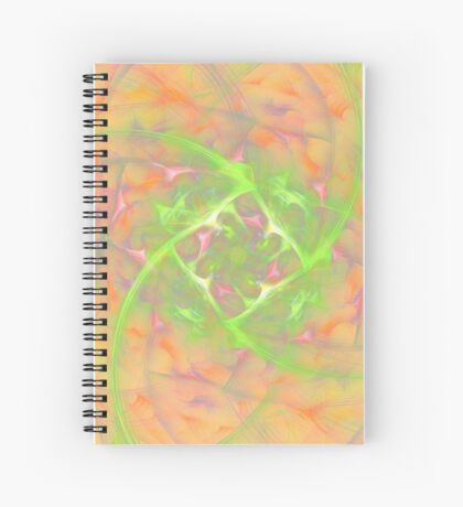 At the beginning of the rotation #fractal art 2 Spiral Notebook