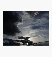 dark, light uk sky  Photographic Print
