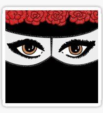 Niqabi with flowercrown Sticker