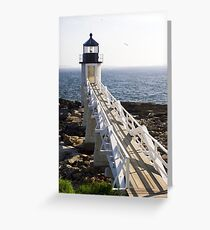 Marshall Point Lighthouse, Port Clyde, Maine Greeting Card
