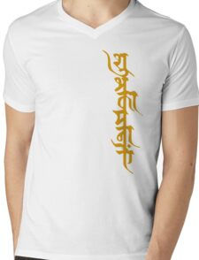 Shubhkamnayein means Blessings 2 Mens V-Neck T-Shirt