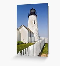 Maine's Pemaquid Point Lighthouse Greeting Card