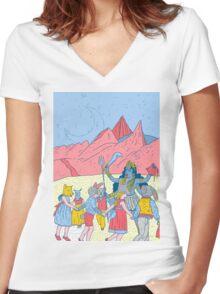 Kali dance  Women's Fitted V-Neck T-Shirt