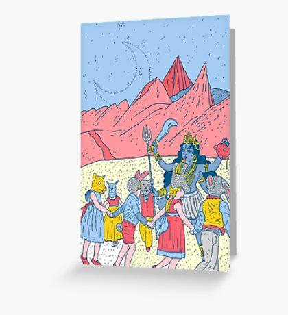 Kali dance  Greeting Card