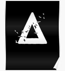 Bastille Birds Triangle White Poster