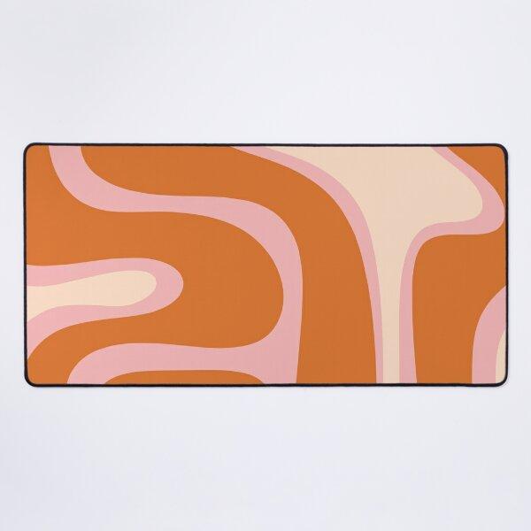 Copacetic Retro Abstract Pink Orange Cream Desk Mat