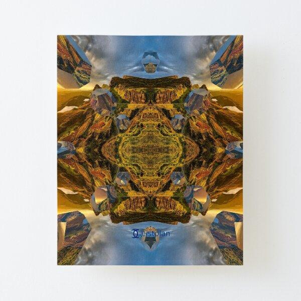 Mandala der Weite Aufgezogener Druck auf Leinwandkarton