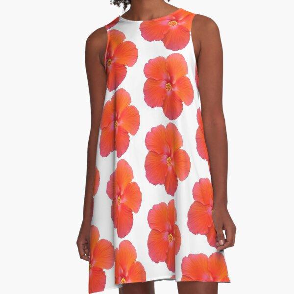 Hibiscus Flower - No Background A-Line Dress