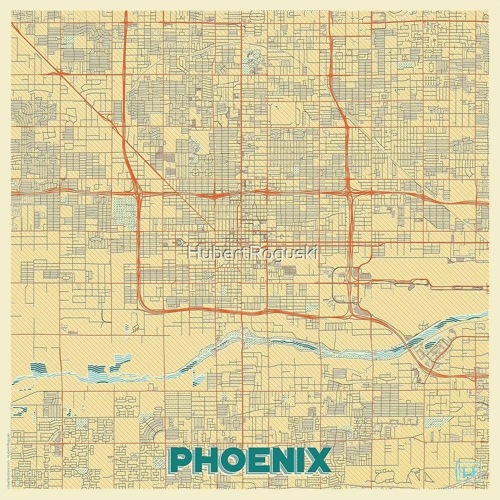 Phoenix Map Retro by HubertRoguski