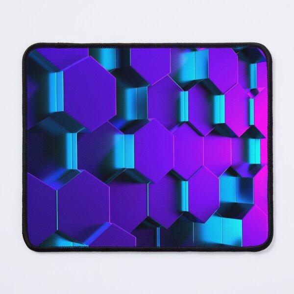 3D Hexagonal Geometric Design Mouse Pad