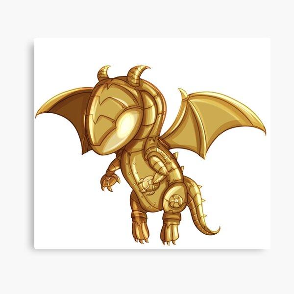 Happy The Dragon Canvas Print