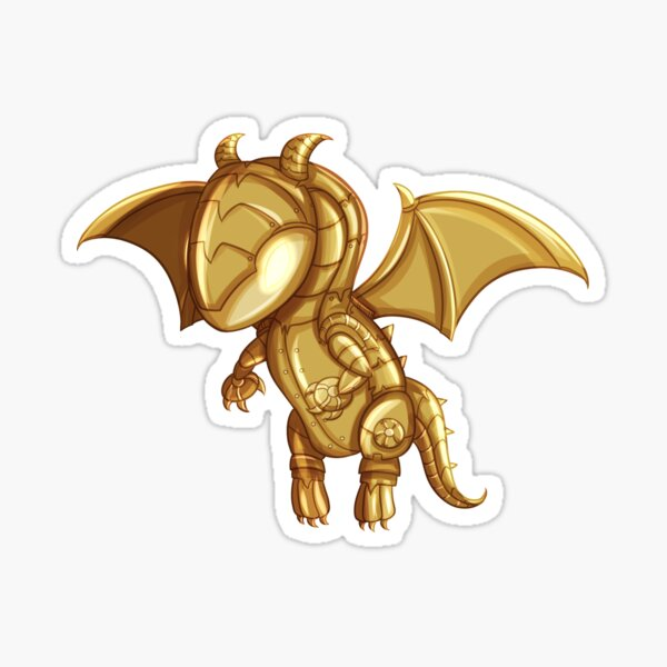 Happy The Dragon Sticker