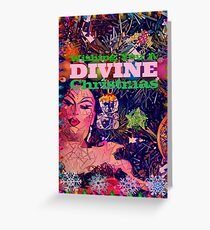 wishing you a divine christmas Greeting Card