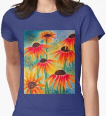 Last Coneflowers Womens Fitted T-Shirt
