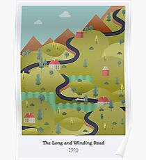 The Long and Winding Road Poster Poster