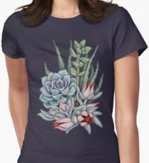 Midnight Succulents Women's Fitted T-Shirt