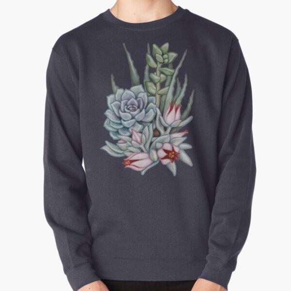 Midnight Succulents Pullover Sweatshirt