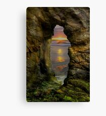 Perranporth Keyhole Sunset, Cornwall, UK ~ Atlantic Coast Canvas Print