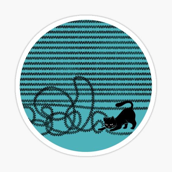 Unravel (in Blue) Sticker