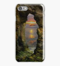 Perranporth Keyhole Sunset, Cornwall, UK ~ Atlantic Coast iPhone Case/Skin