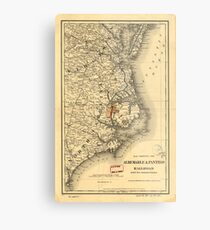Vintage Map of The North Carolina Coast (1887) Metal Print