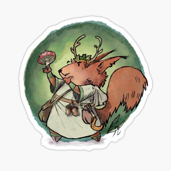 Cute RPG druid / shaman Sticker