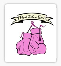 Fight like a girl, win like a girl Sticker