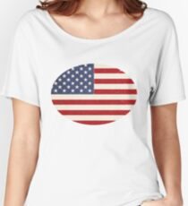 Vintage Stars and Stripes  Women's Relaxed Fit T-Shirt