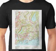 USGS TOPO Map Connecticut CT Branford 330470 1967 24000 Unisex T-Shirt