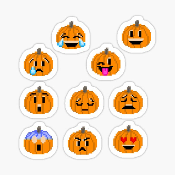 Pumpkin Emojis - The Kids' Picture Show Sticker