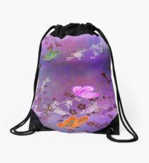 Amethyst  Cherry Blossom Drawstring Bag