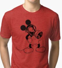 Mickey the GasMask Mouse Tri-blend T-Shirt