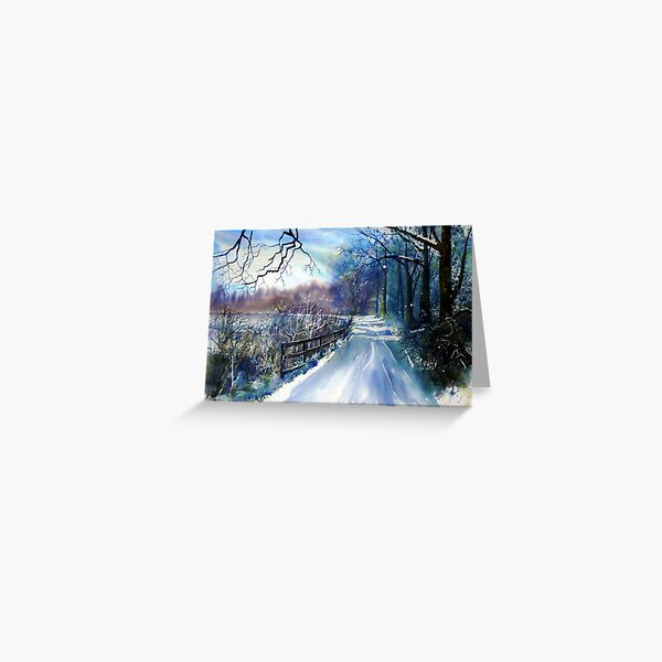 On the Banks of the Ouse in Winter Greeting Card