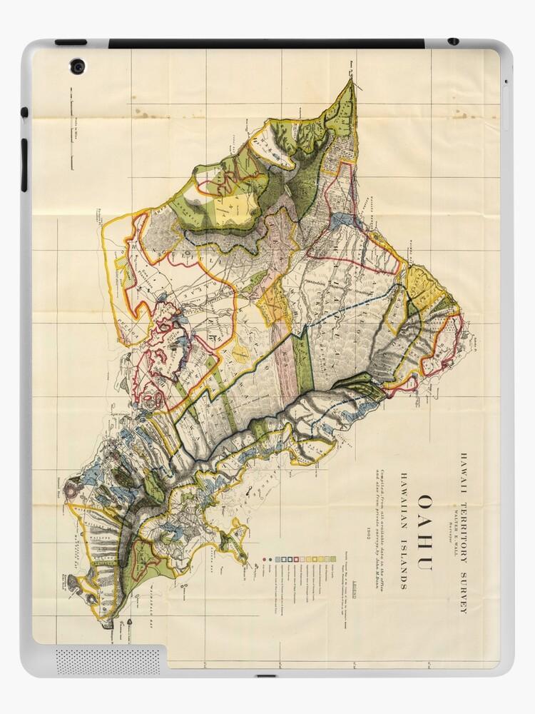 Vintage Map Of Oahu Hawaii 1906 Ipad Case Skin By Bravuramedia Redbubble