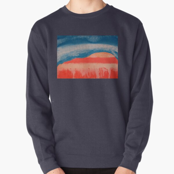 Ghost Ranch original painting Pullover Sweatshirt