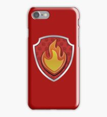 Marshal - Fire Pup-tag iPhone Case/Skin