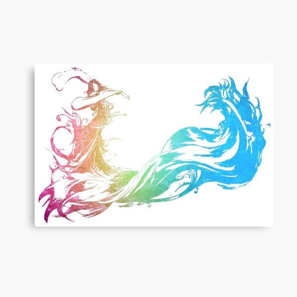 ° FINAL FANTASY ° Final Fantasy X Rainbow Logo Metal Print
