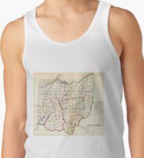 Camiseta de tirantes Vintage Map of Ohio (1866)