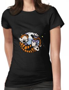 The Calvin and Hobbes Firefox Womens Fitted T-Shirt