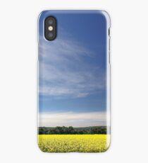 Sun Halo Over Canola Field iPhone Case