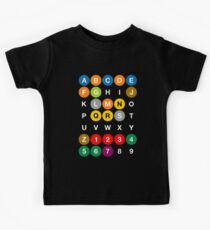 NYC Subway Letters Kids Tee