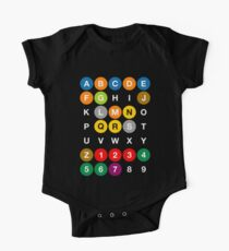NYC Subway Letters One Piece - Short Sleeve