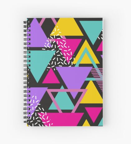 Memphis Triangles Spiral Notebook