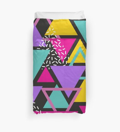 Memphis Triangles Duvet Cover